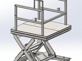 31 Detail~v~modele 3d Platforme Hydraulique A Ciseaux